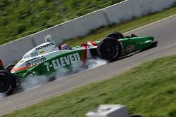 Tony Kanaan goes into turn 5 a bit hot