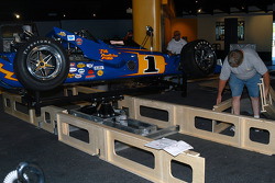 Installation of Winners' Circle base around Johnny Lightning Special