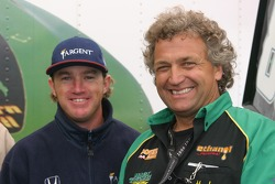 Buddy Rice with 5-time IHRA Funny Car champion Mark Thomas