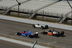 Marco Andretti, Michael Andretti and Mario Andretti take a lap together