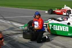 Andretti Green team member at work