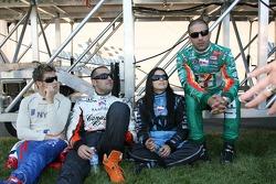 Marco Andretti, Dario Franchitti, Danica Patrick and Tony Kanaan