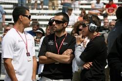 Jaime Camara, Dario Franchitti and Marco Andretti