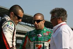 Dario Franchitti, Tony Kanaan and Mario Andretti