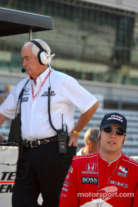 Roger Penske et Sam Hornish Jr.