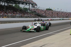 Tony Kanaan pulls in for a pit stop