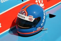 Helmet of Gordon Johncock on display
