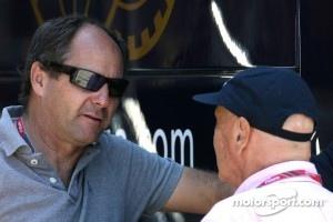 Gerhard Berger, and Niki Lauda