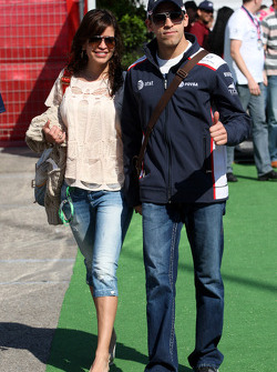Pastor Maldonado, AT&T Williams, and girlfriend Gabriella Tarkany