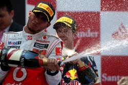 Podium: second place, Lewis Hamilton, McLaren Mercedes