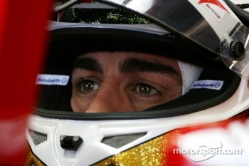 Fastest time this morning was for Fernando Alonso
