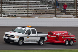Jet dryer truck on track
