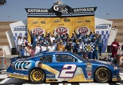 Victory lane: Brad Keselowski, Penske Racing Dodge celebrates