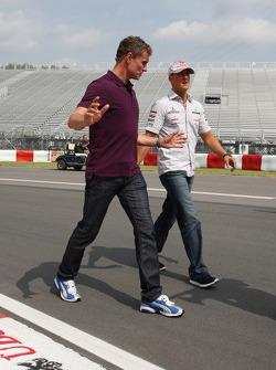 David Coulthard and Michael Schumacher, Mercedes GP