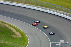 Race action: Felipe Giaffone, Robbie Buhl and Sam Hornish Jr.