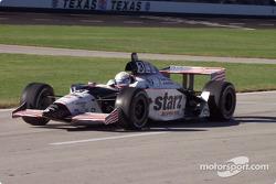 Al Unser Jr. on pit road