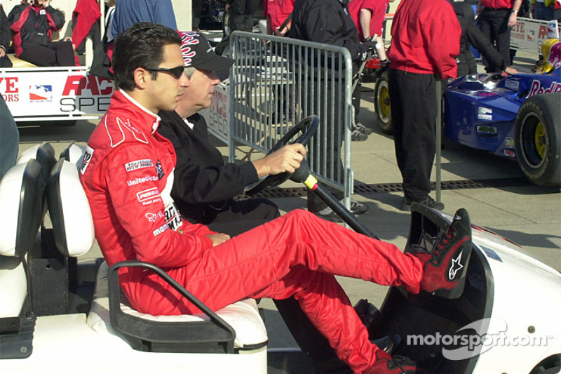 They won't let Castroneves drive the cart