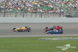 Robbie Buhl, Felipe Giaffone and Tomas Scheckter