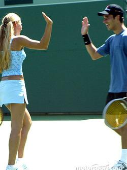 Helio Castroneves and WTA tennis star Anna Kournikova