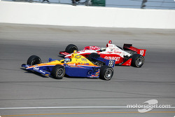 Sarah Fisher and Tomas Scheckter