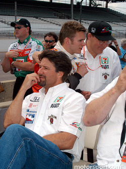 Michael Andretti, Dan Wheldon and Kevin Savoree