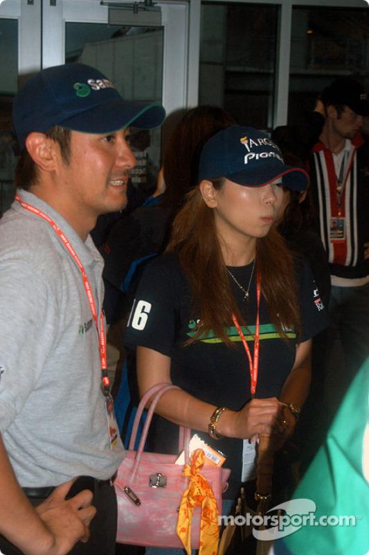 Roger Yasukawa et sa petite amie Hiro
