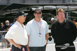 Parnelli Jones, left, 1963 Indianapolis 500 winner with son P.J. Jones and owner Greg Beck of Beck Motorsports