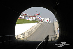 Through the turn 3 tunnel under the track