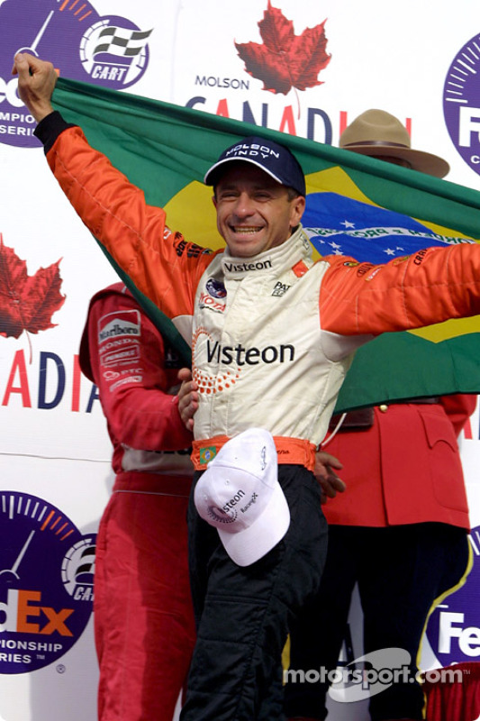 Race winner Roberto Moreno