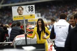 Grid girl of Augusto Farfus, BMW Team MTEK, BMW M4 DTM