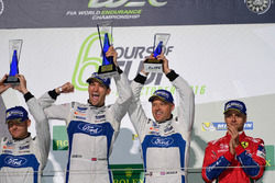 Podium GTE PRO: winners #67 Ford Chip Ganassi Racing Team UK Ford GT: Andy Priaulx, Harry Tincknell