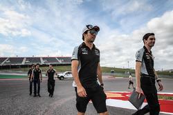 Sergio Perez, Sahara Force India F1 walks the circuit