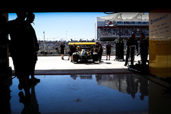 Renault Sport F1 Team RS16 pushed back in the pits