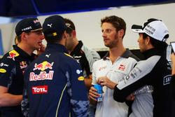 Romain Grosjean, Haas F1 Team en el desfile de pilotos
