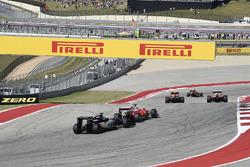 Nico Hulkenberg, Sahara Force India F1 VJM09, Sebastian Vettel, Ferrari SF16-H