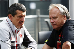 Guenther Steiner, Haas F1 Team team principal and team owner Gene Haas
