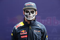 Max Verstappen, Red Bull Racing arrives at the circuit wearing full Dia de Muertos facepaint