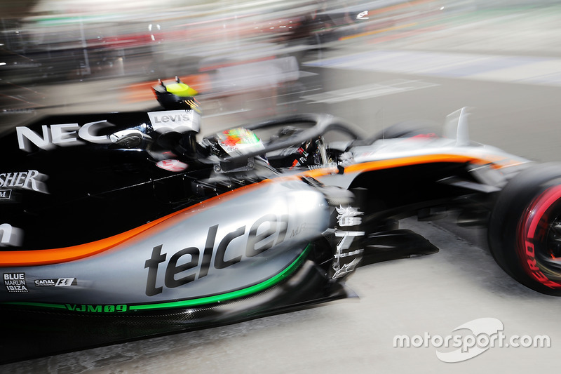 Sergio Perez, Sahara Force India F1 VJM09 Halo kokpit ile