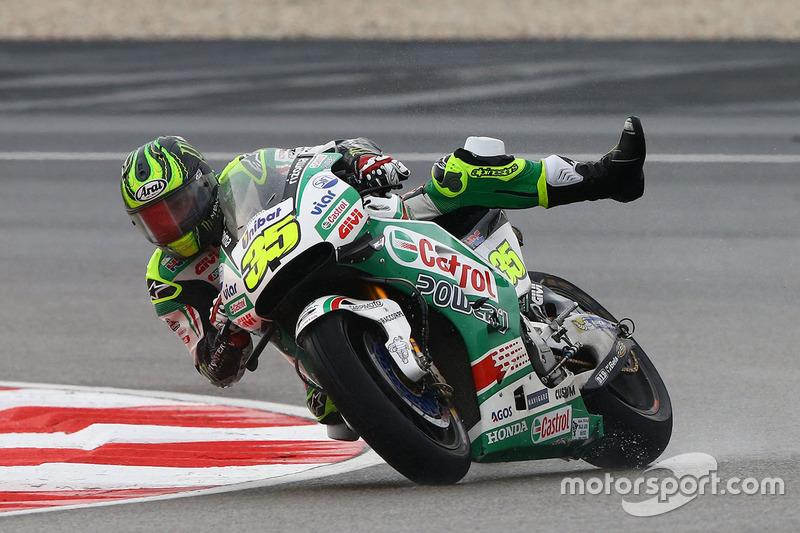 2. Cal Crutchlow, Team LCR Honda casi accidente