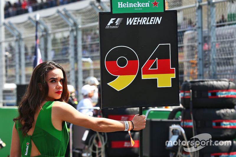 Chica de la parrilla de Pascal Wehrlein, Manor Racing
