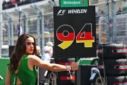 Grid girl for Pascal Wehrlein, Manor Racing