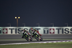 Jonathan Rea, Kawasaki Racing and Tom Sykes, Kawasaki Racing