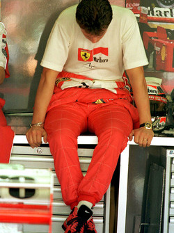 Michael Schumacher, Ferrari shows his disappointment after loosing the World Championship
