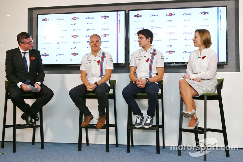 David Croft, Sky Sports Commentator, Valtteri Bottas, Lance Stroll, Claire Williams, jefa del Williams Team