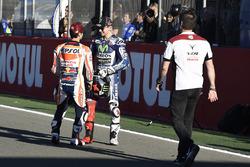 Dani Pedrosa, Repsol Honda Team; Jorge Lorenzo, Yamaha Factory Racing