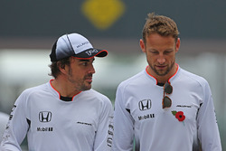 Fernando Alonso, McLaren F1 and Jenson Button, McLaren F1