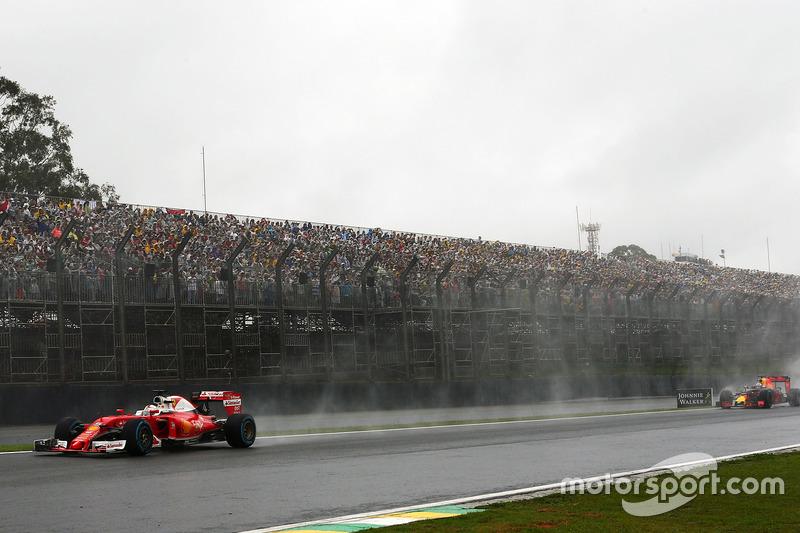 Vettel terminó molesto con Verstappen, de nuevo