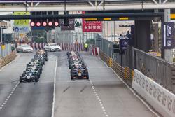 Salida de la carrera clasificatoria de la F3 en Macao