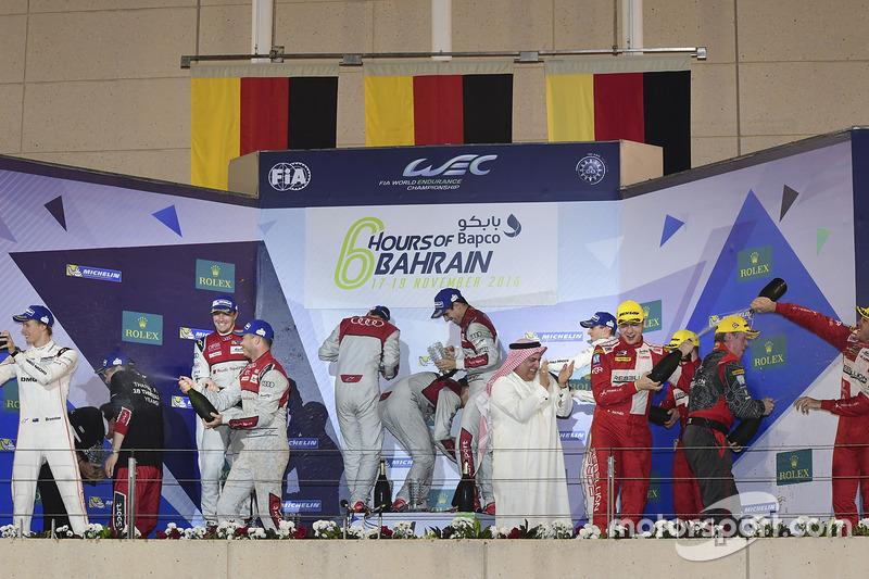 Podio de las 6h de Bahréin 2016