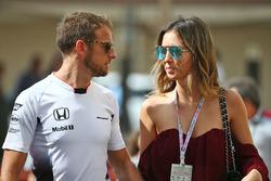 Jenson Button, McLaren with his girlfriend Brittny Ward